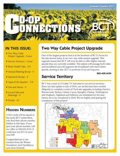 Co-Op Connections Summer 2017